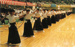 People shooting Kyudo